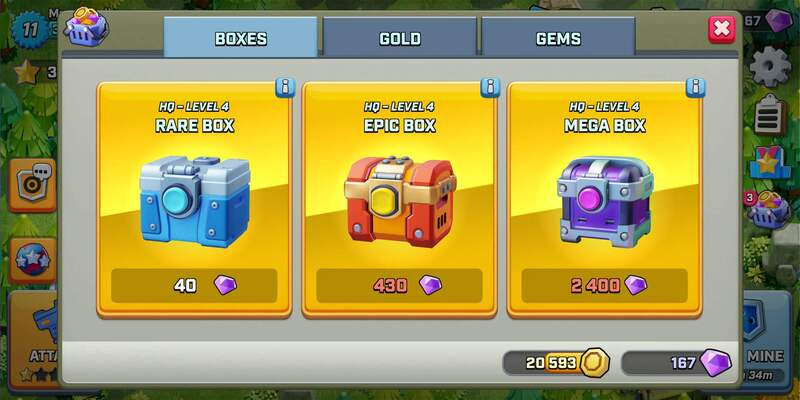 rush wars update 0.188, shop in rush wars