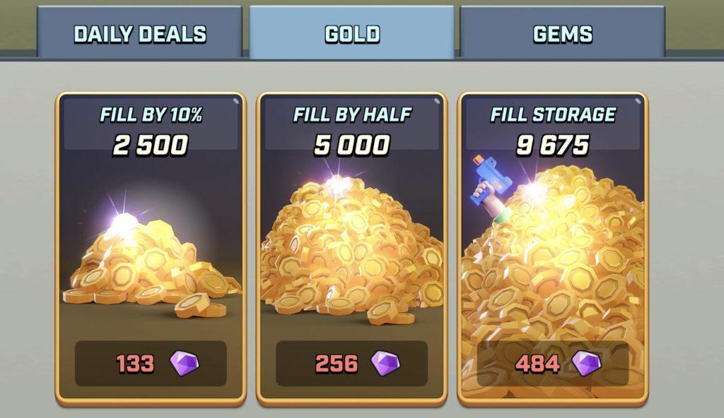 rush wars update, rush wars gold