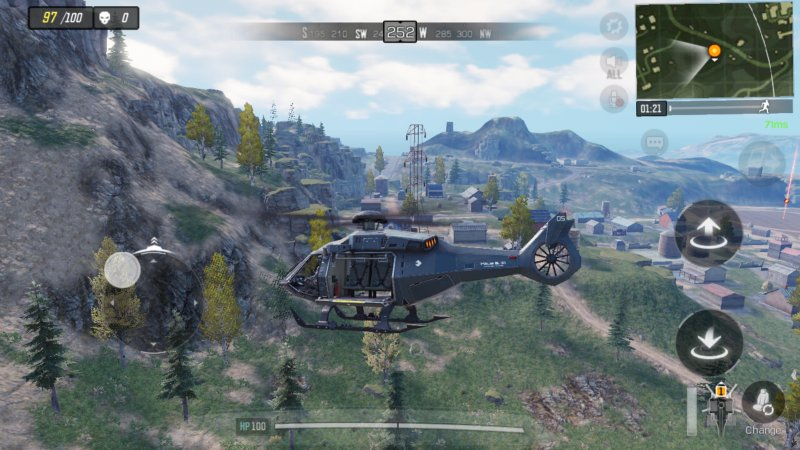 Helicopters in Call of Duty: Mobile
