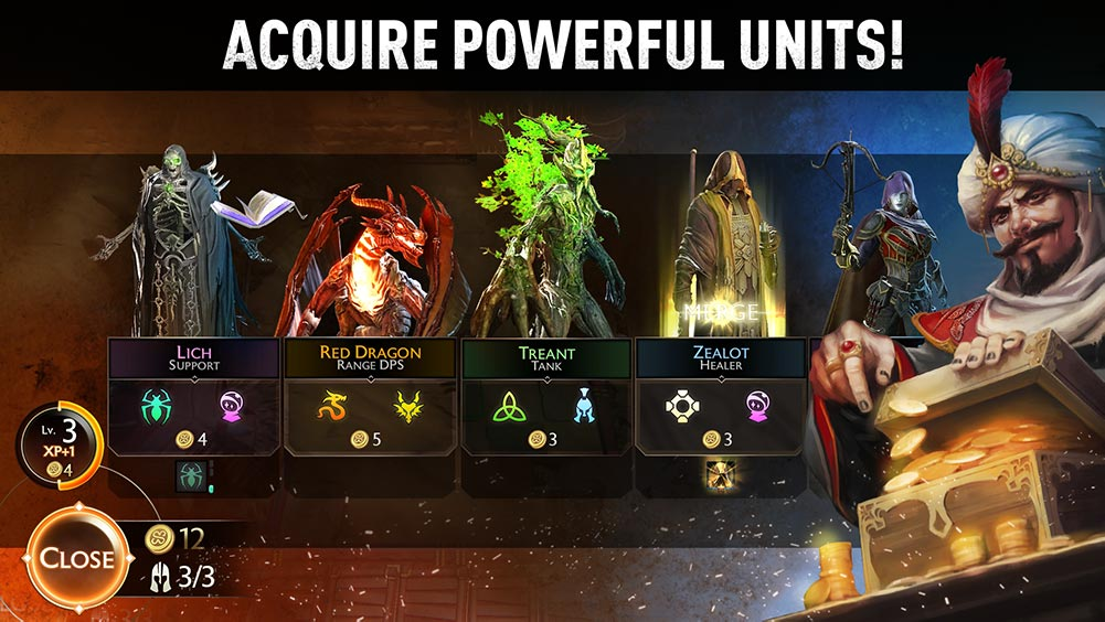might and magic chess royale acquire powerful units