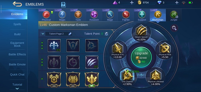 Mobile Legends Wanwan guide Emblem