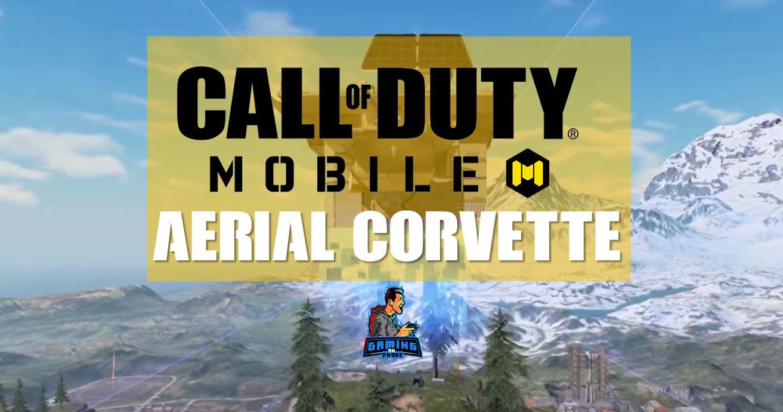 Call of Duty Mobile aerial corvette