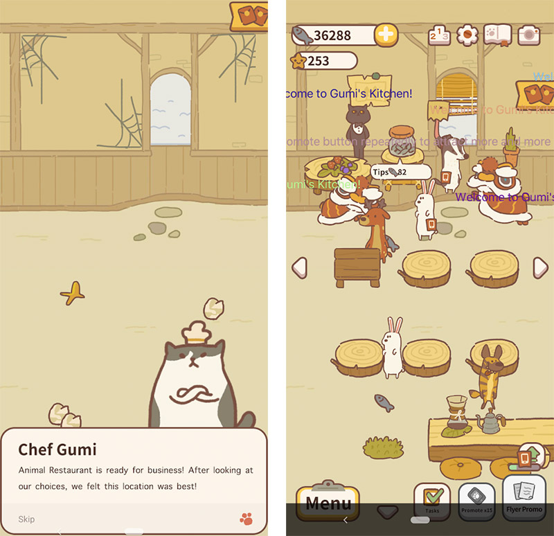 animal restaurant screenshots