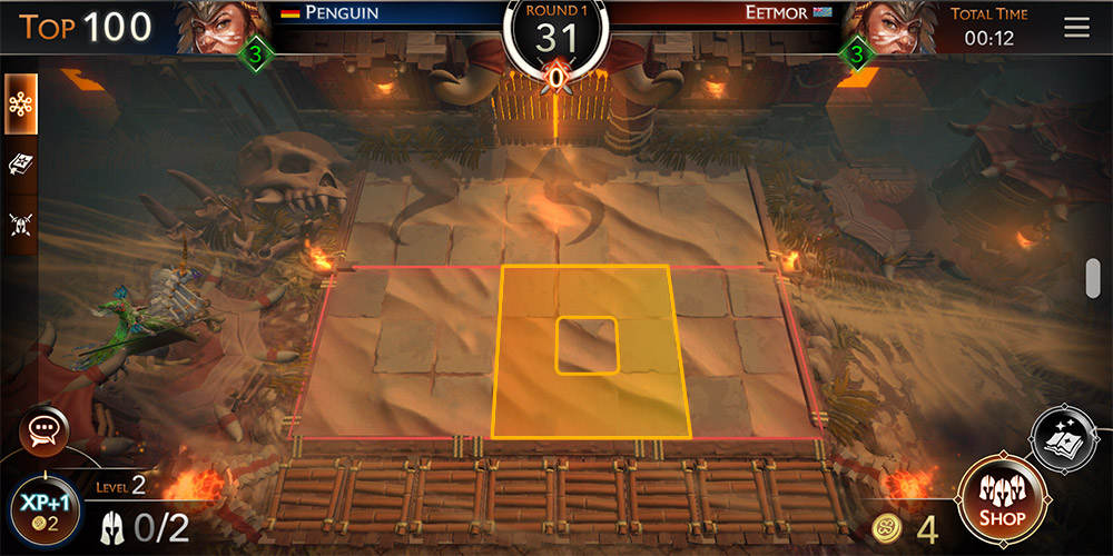 might & magic: chess royale tutorial,  Image shows what surrounding tiles are (8 tiles around the specific tile)