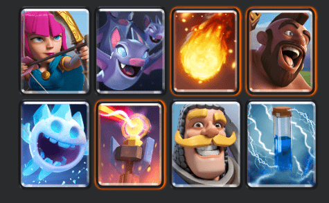 One of the best hog cycle decks in Clash Royale