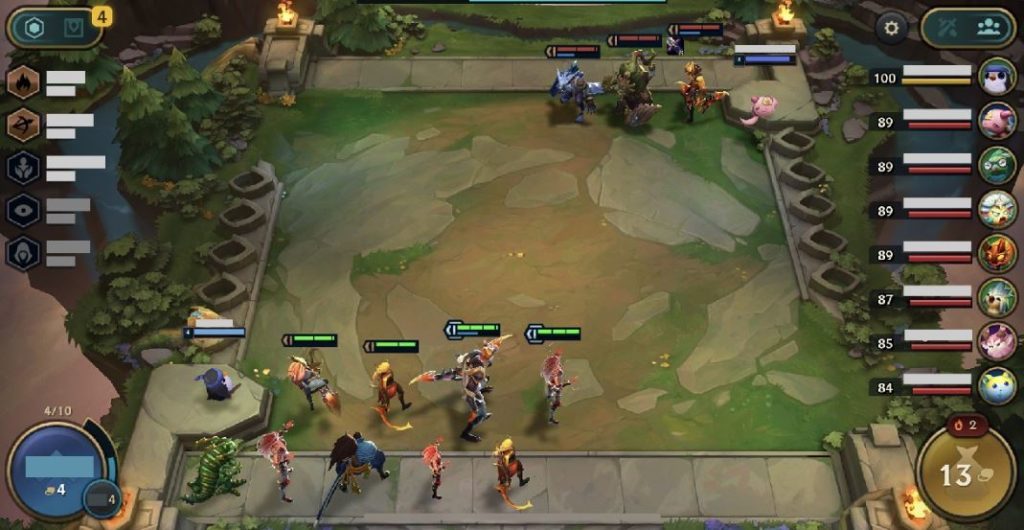tft mobile gameplay