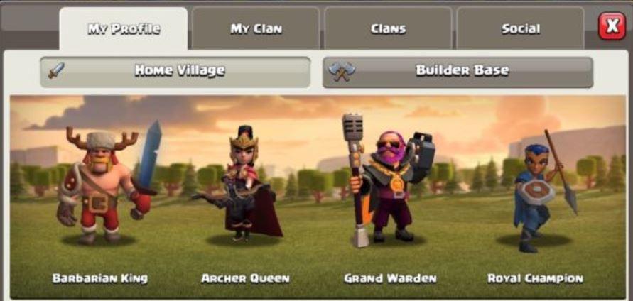 coc updated hero interface