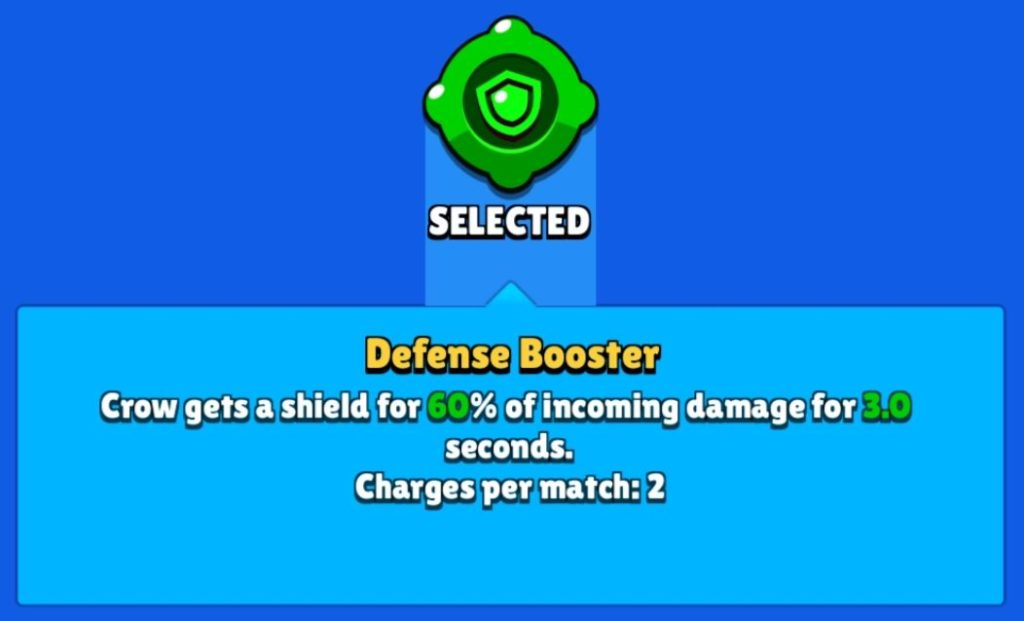 defense booster gadget in brawl stars