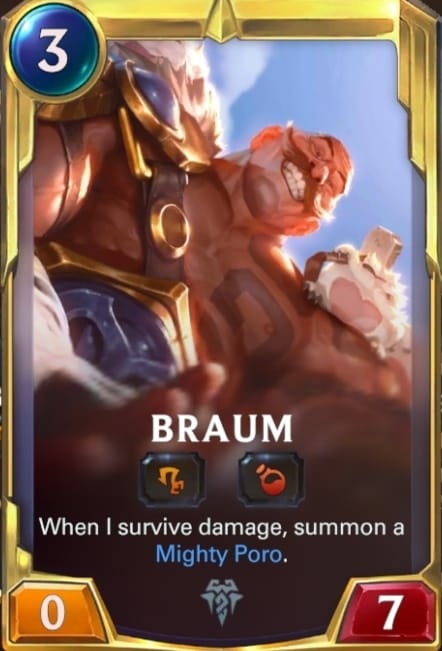 Braum Legends of Runeterra Champions