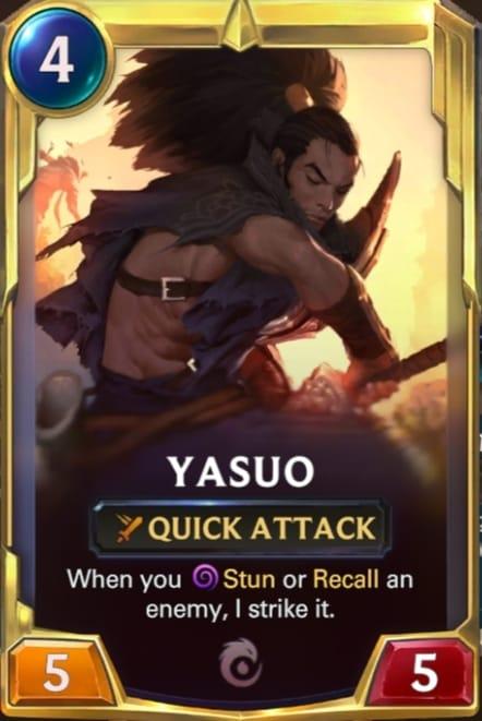 Yasuo Legends of Runeterra Champions