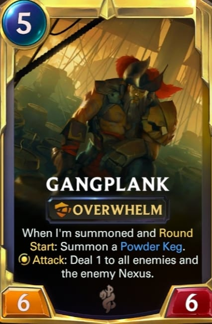 Gangplank Legends of Runeterra Champions