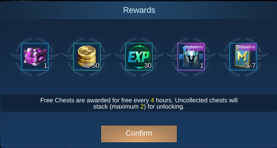 Mobile Legends Battle Points  free chests