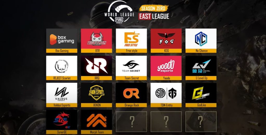 qualified teams of PUBG Mobile World League Season Zero