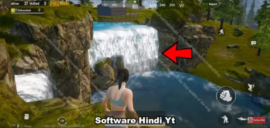 pubg mobile livik map, livik waterfall