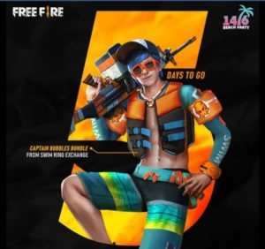 Free Fire Beach Party Event issue Freebies
