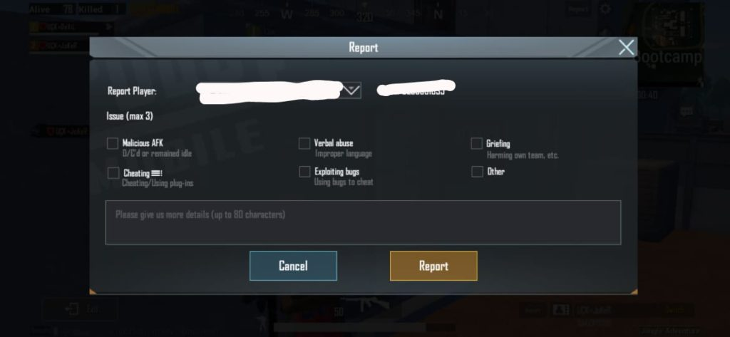 PUBG Mobile account banned report hackers