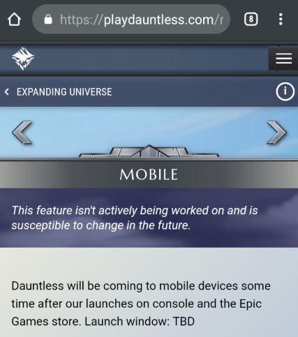 dauntless mobile