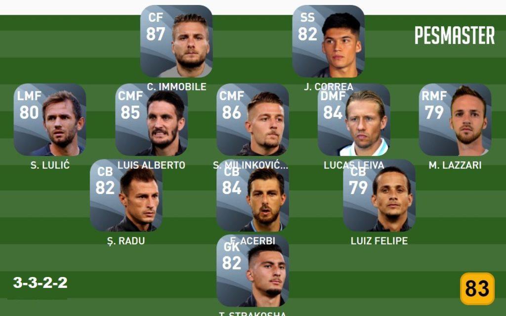 PES Konami Cup Matchday  Lazio team