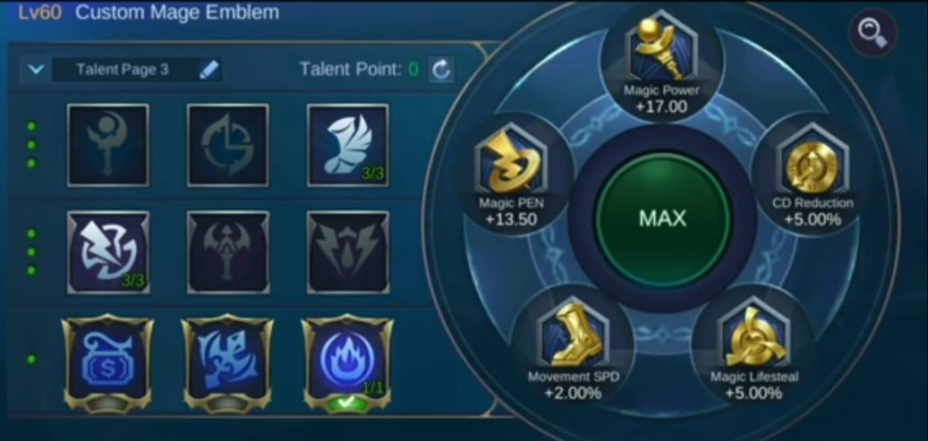 Mobile Legends Silvanna Guide, best emblem for silvanna