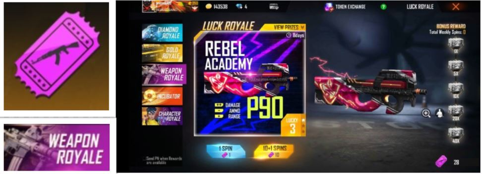 Free Fire Weapon Royale