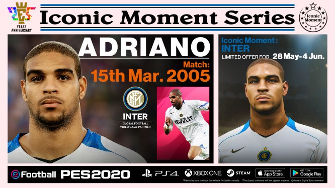 Inter Milan Iconic Moment Adriano