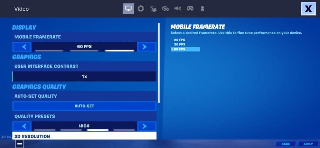 Fortnite Mobile best settings, Best settings in Fortnite Mobile