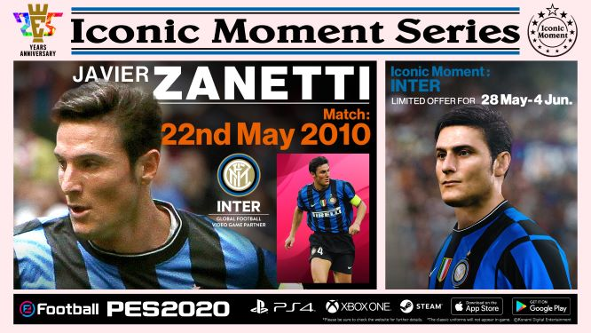 Inter Milan Iconic Moment Zanetti