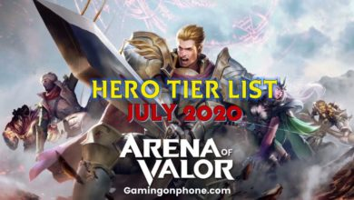 Photo of Arena of Valor July 2020 Tier List