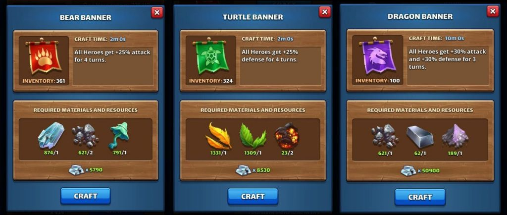 Banner Items