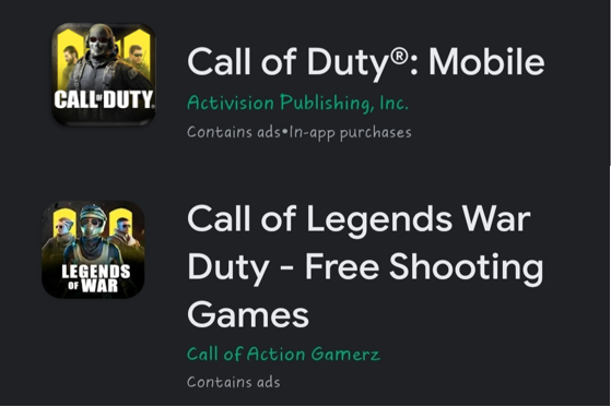 Cloned games in Mobile