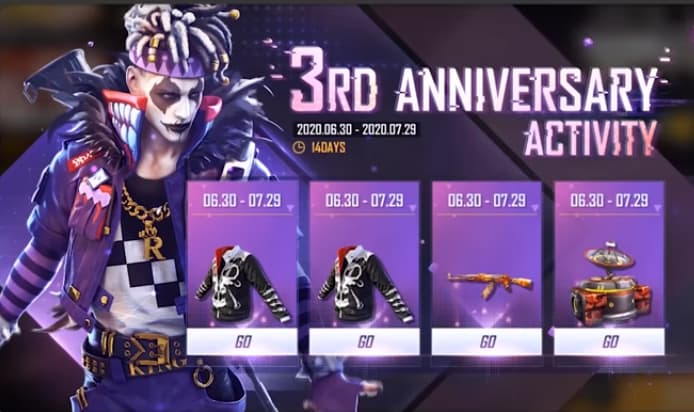 Free Fire 3rd anniversary