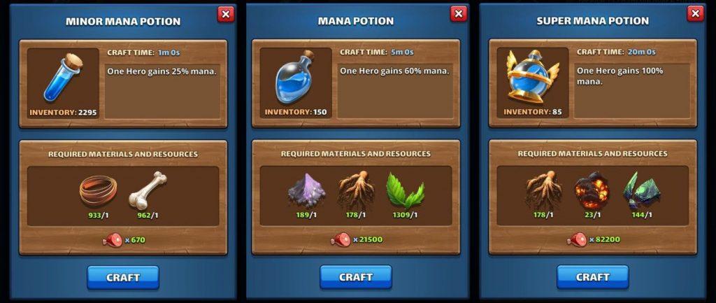 Mana Potions Empires & Puzzles