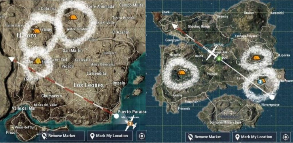 PUBG Mobile Spark the Flame Statue camps