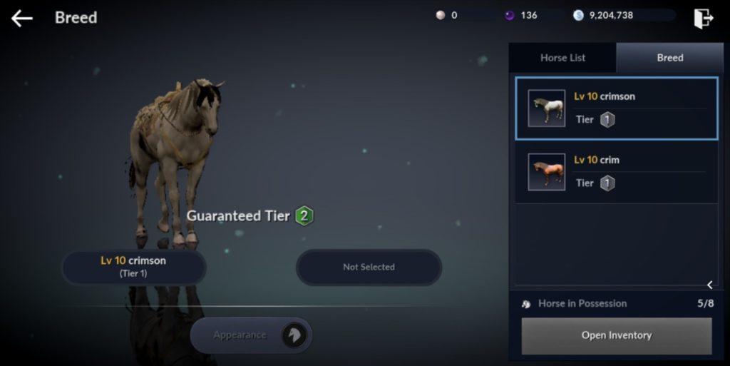 Black Desert Mobile Horse Breeding Guide