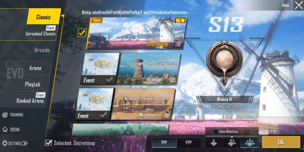 PUBG Mobile livik features Classic Mode