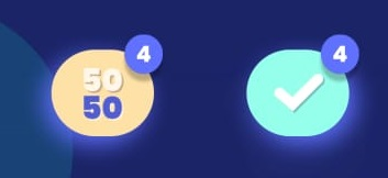 tip to win at trivia royale number three relays on the available powerups on the game