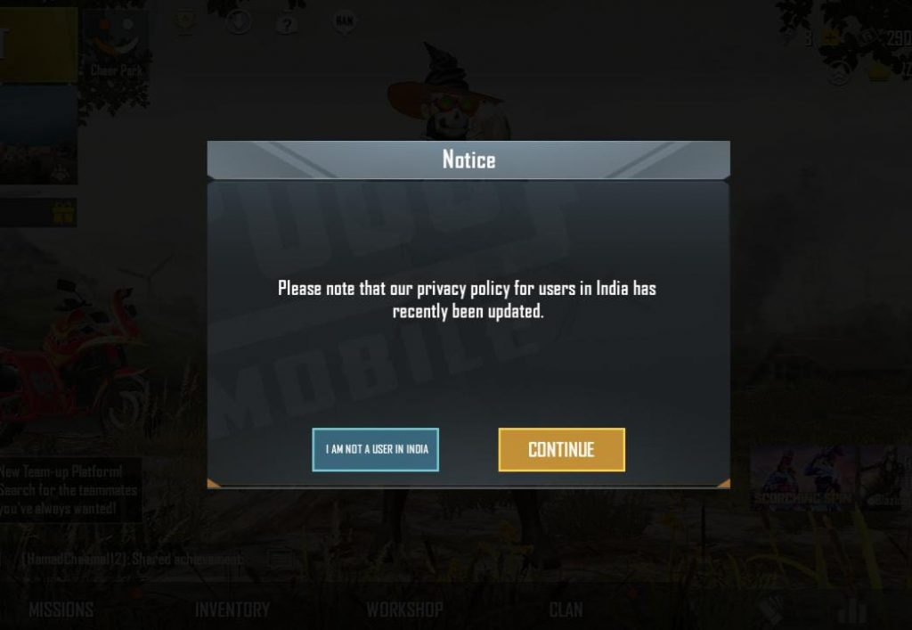 PUBG Mobile updated Privacy Policy for Indians