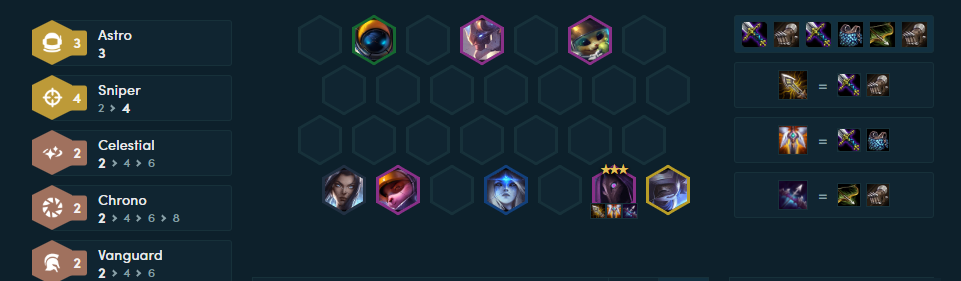 Teamfight Tactics Comps for Patch 10.15 Astro Snipers