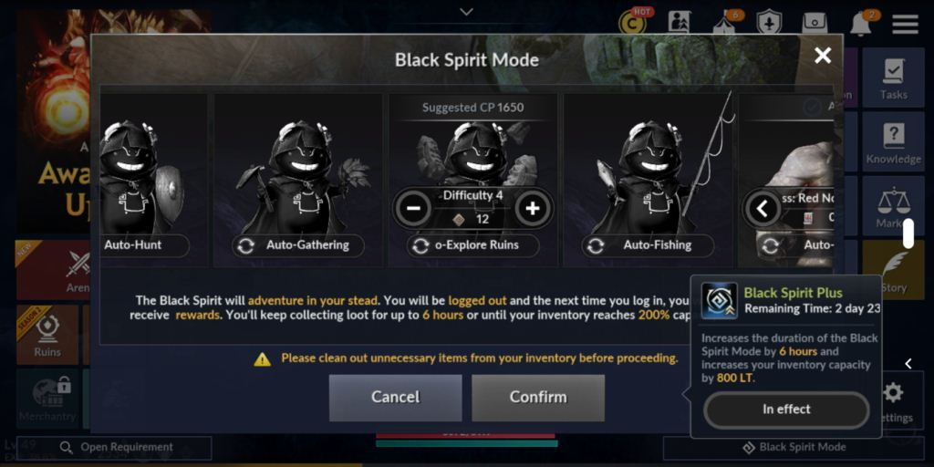 Level Up Quickly in Black Desert Mobile