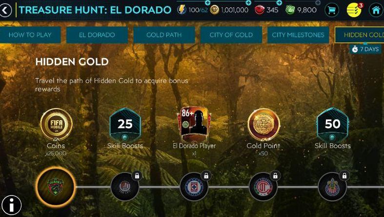 FIFA Mobile 20 Treasure Hunt El Dorado