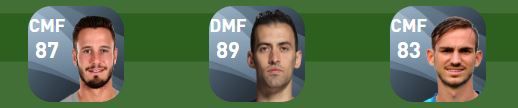 National Squad Builders in PES 2020 Spain midfield