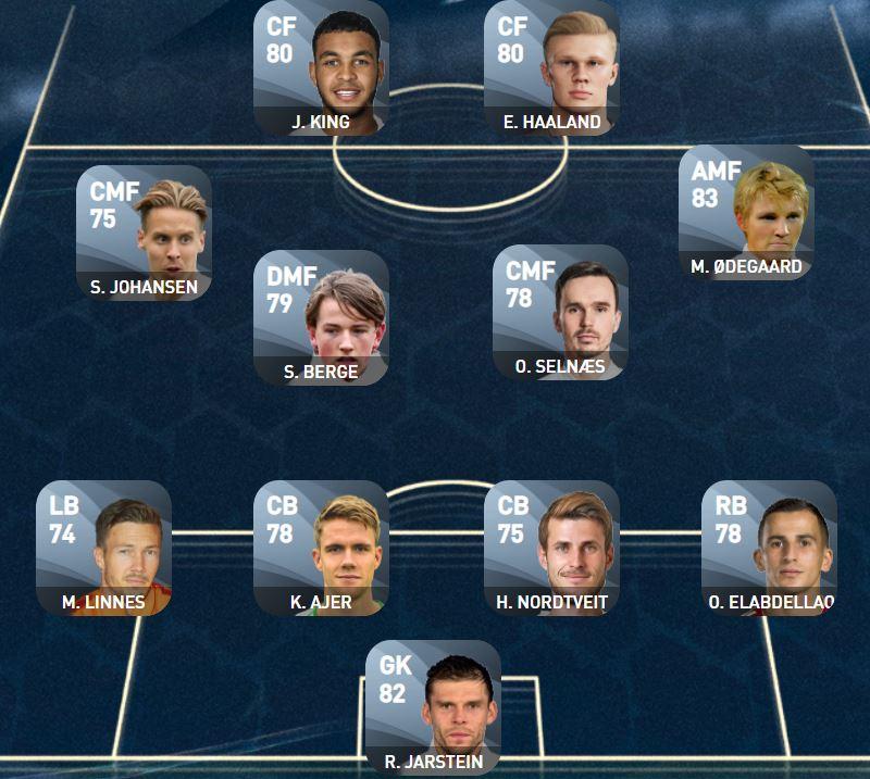 PES Euro Matchday Norway XI