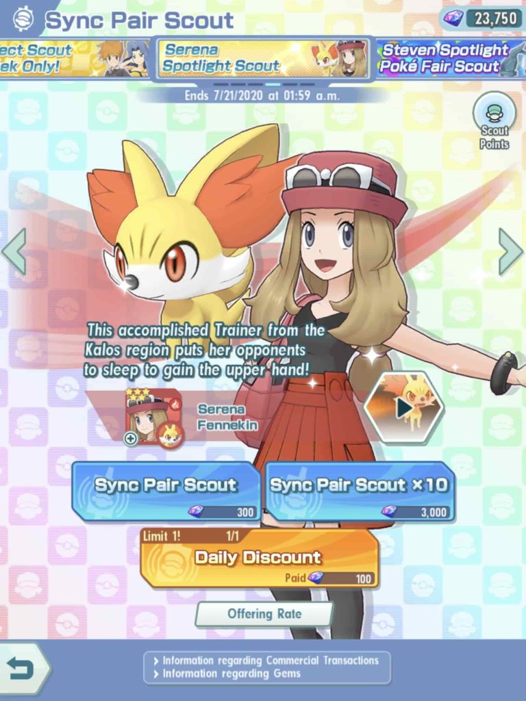 Pokemon Masters Beginners Guide sync pair scout