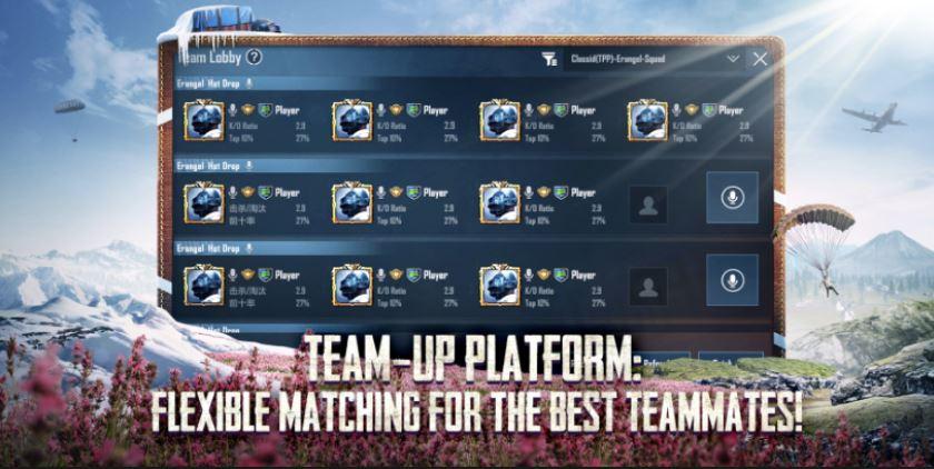 Team Up platform