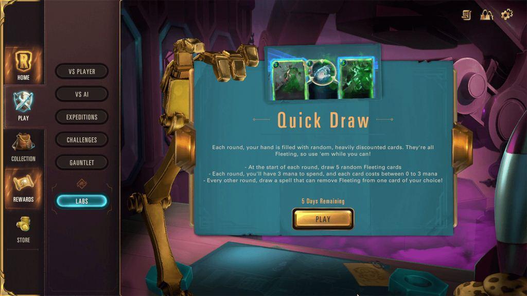 Legends of Runeterra Patch 1.7 Quick Draw