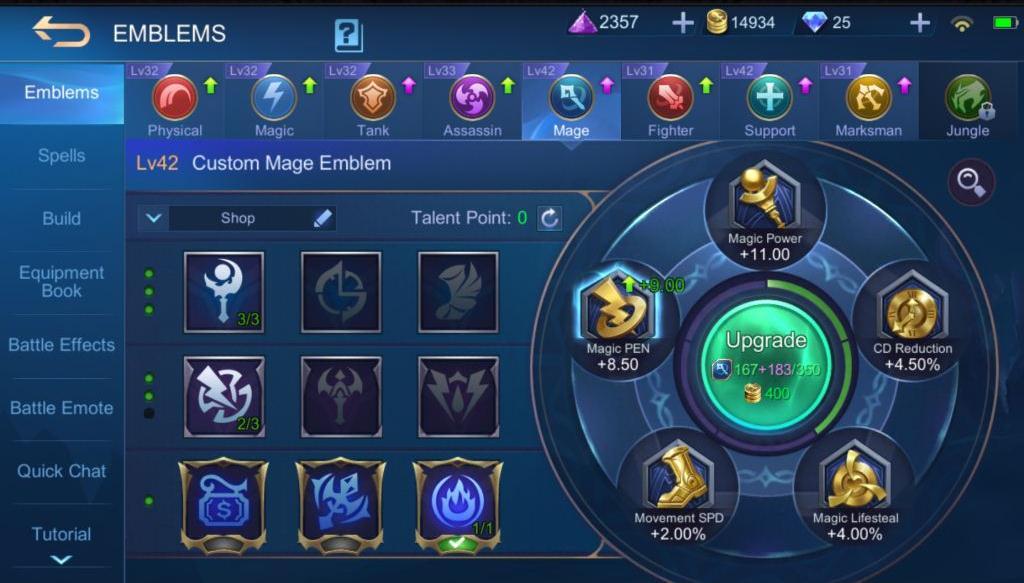 Mobile Legends Cecilion Guide Emblems