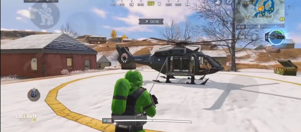 Helicopter location in Cod Mobile