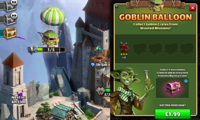 Empires & Puzzles Goblin Balloon