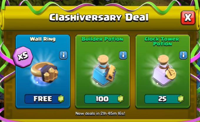 coc, coc free items