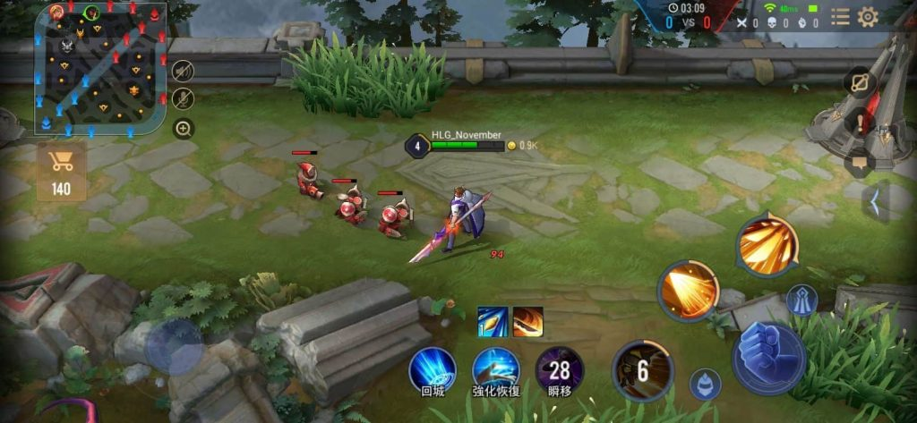 Enemy wave in AoV
